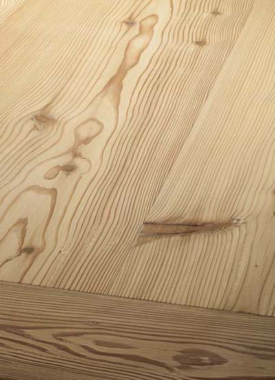 103 Mountain Larch handscraped - brushed, lyed and sopaed