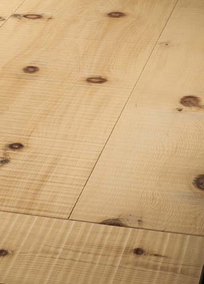 117 Pine (Arve) damped, rough sawn - brushed and oiled