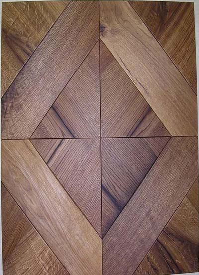 126 Squares in Oak Old wood, brushed and oiled