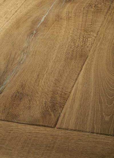 14 Oak Emperior Plank - original surfice brushed, hand-bevelled, lyed and soaped