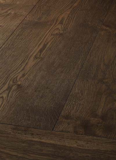 17 Oak handscraped - brushed, lyed and oiled