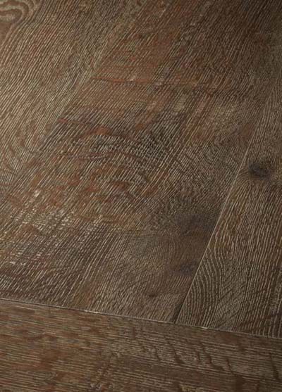 18 Oak antique handscraped - brushed, lyed - light patinated and oiled
