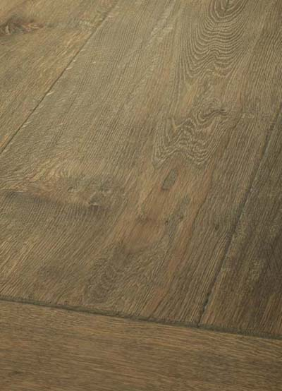 23 Oak handscraped - brushed, hand-bevelled, lyed and oiled
