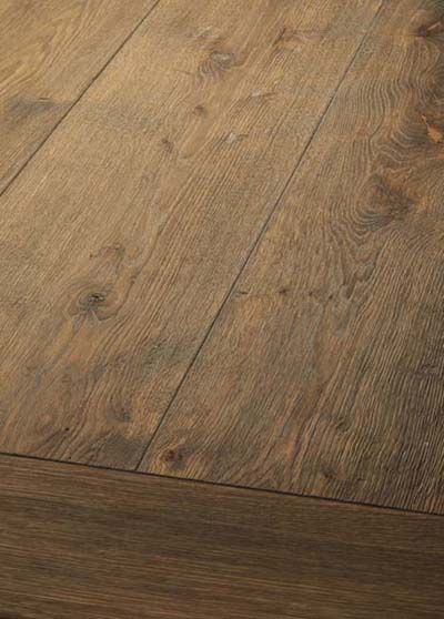 37 Oak handscraped - brushed, lyed and oiled