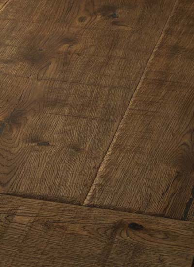 6 Oak Emperior Plank - original surfice brushed, hand-bevelled, lyed and oiled