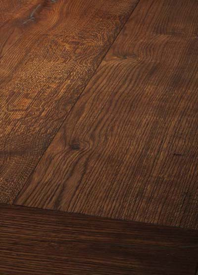 74 Oak antique, handscraped - brushed and oiled