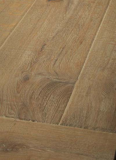 9 Oak Emperior Plank - original surfice brushed, hand-bevelled, lyed and oiled