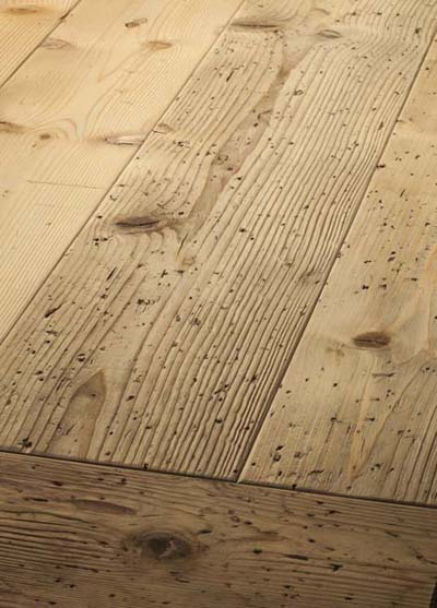 98 Spruce Old wood Emperior plank brushed, lyed and soaped