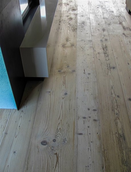 Spruce old wood original surface white washed - 5000x380x20mm