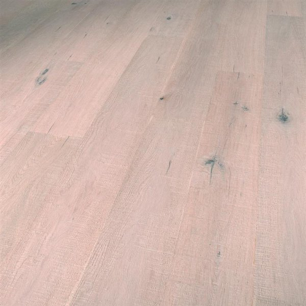 Vintage Maine Oak rustic fine saw handscraped brushed colored white oiled - 1900x190x15mm