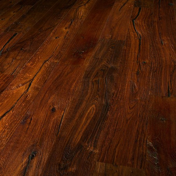 Vintage Matterhorn Oak extra rustic brushed thermo treated natural oiled - 1900x190x15mm