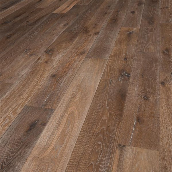 Vintage Cayman Oak extra rustic smoked deep brushed handscraped white washed natural oiled - 1900x190x15mm